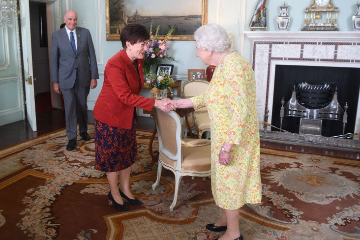 Image of  HM The Queen meets Dame Patsy and Sir David
