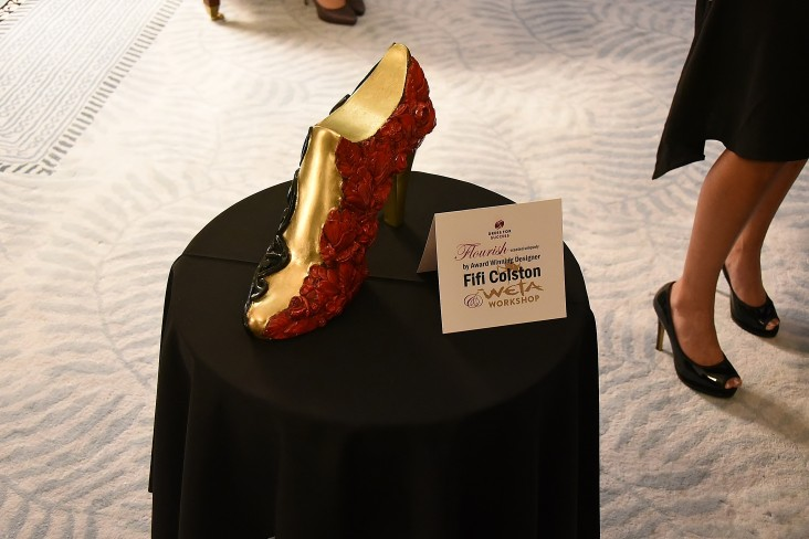 Image of a shoe sculpture by artist Fifi Colston