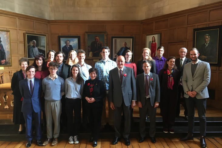 Dame Patsy and Sir David with Rhodes scholars