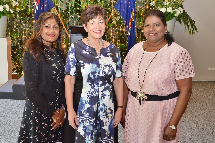 Image of Dame Patsy with Sonia Naicker and Vimla Siwa from Crest