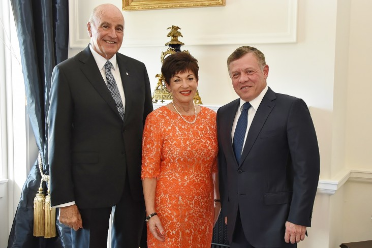Image of King Abdullah with Dame Patsy and Sir David