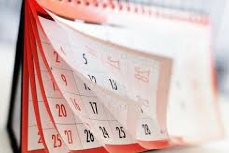 Image of a calendar with pages turned