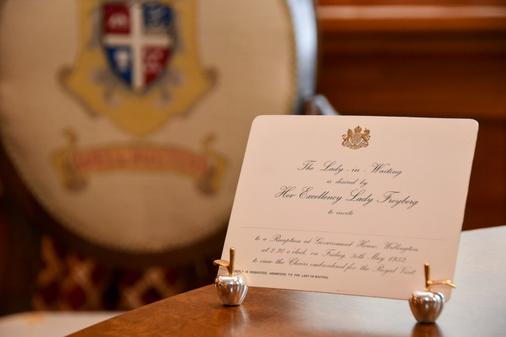 Lady Freyberg invitation Government House Wellington