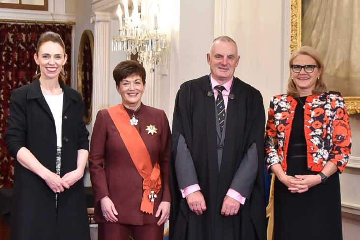 The Prime Minister, Dame Patsy, Speaker Mallard and Chief Justice Winkelmann