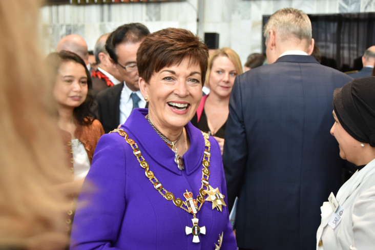 Image of Dame Patsy and the Prime Minister's reception