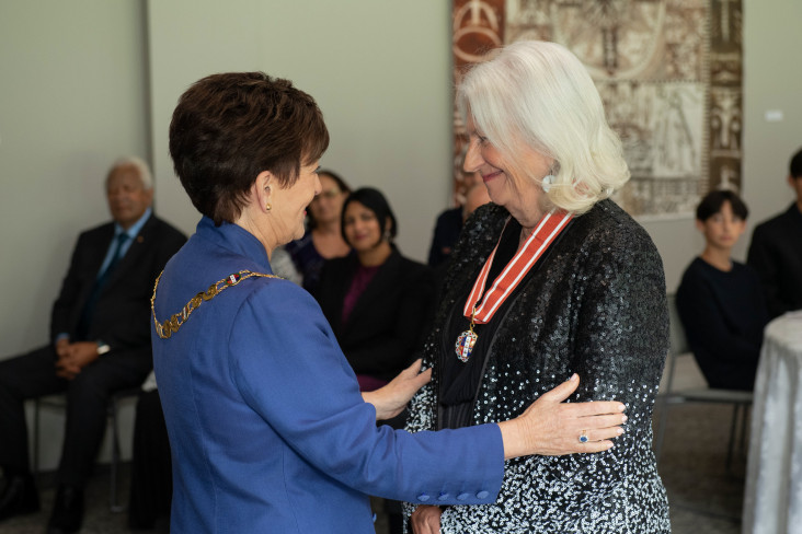 Dame Anne Salmond and Dame Patsy Reddy