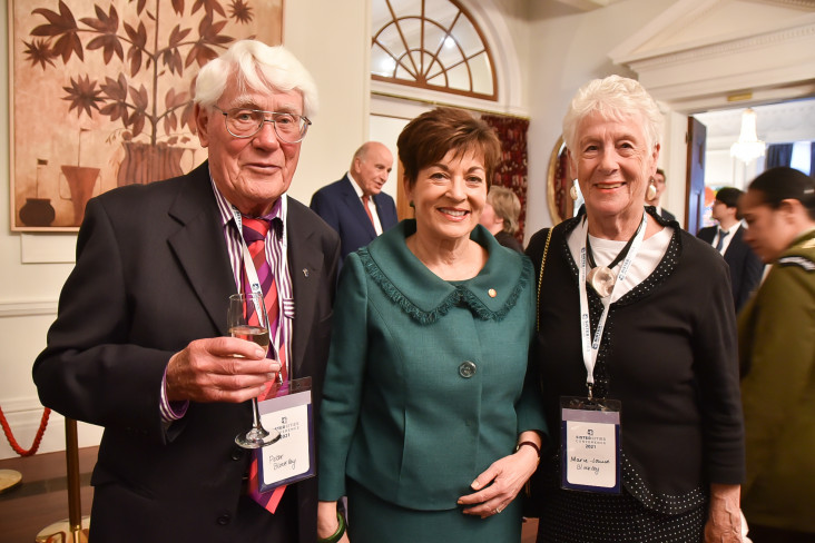 Image of Dame Patsy with Sister Cities New Zealand's first Executive Officer Mary-Louise Blockley and Peter Blockley