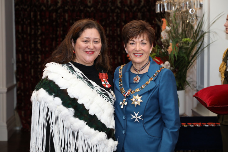 Image of Professor Dame Cindy Kiro, of Onerahi, DNZM, for services to child wellbeing and education