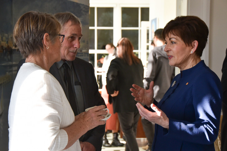 Dame Patsy Reddy with Rex and Barbara McElligott