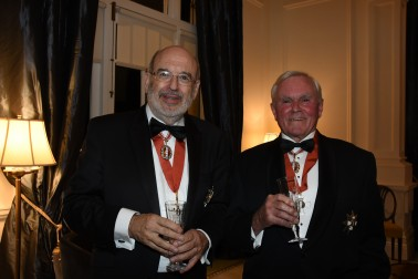 Professor Sir Peter Gluckman, ONZ and Sir Ron Carter, ONZ.