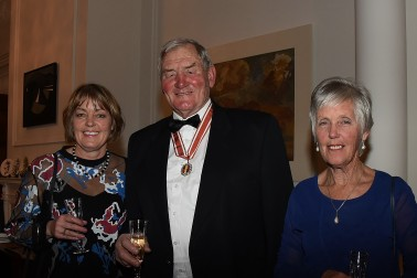 Ms Joanne Mossman, Sir Brian Lochore, ONZ and Lady Pam Lochore.