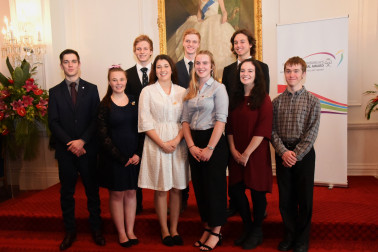 An image of Duke of Edinburgh Hillary Gold Award recipients from Whanganui