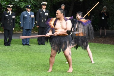 Image of warriors of the NZDF cultural party
