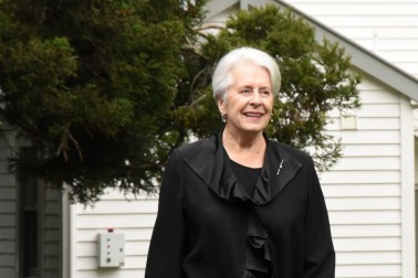 Image of Former Governor-General, Dame Silvia Cartwright arriving for the luncheon
