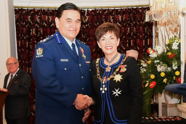 An image of Assistant Commissioner Wallace Haumaha, ONZM of Wellington, for services to the New Zealand Police and Māori, Pacific and ethnic communities