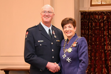 an image of Mr Michael O'Neill, QSM of Gore, for services to the New Zealand Fire Service and the community.