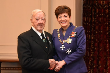 an image of Mr Arthur Pacey, QSM of Blenheim, for services to rugby and the community.