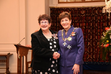 an image of Mrs Cara Watson, QSM of Napier, for services to music.