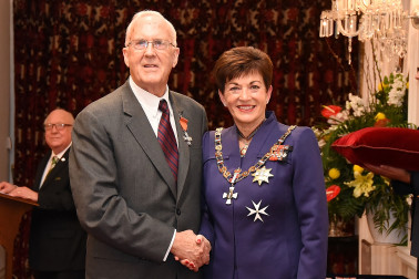 Image of Barry Maughan, of Hamilton, MNZM, for services to health