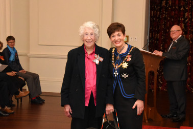 Image of Clarice Anderson, of Waipukurau, QSM, for services to the blind and seniors
