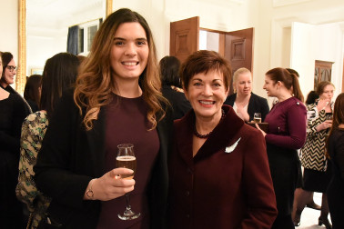 Image of Dame Patsy Reddy with a guest at the Women in Law function