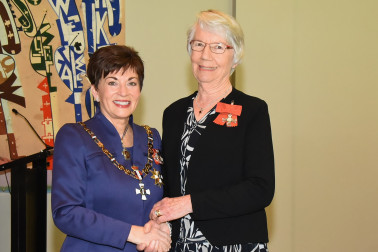 An image of Dame Patsy and Ms Lilian (Jeanne) Biddulph, of Hamilton, MNZM for services to literacy education