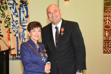 An image of Dame Patsy and Mr Hamish Crooks, of Auckland, MNZM for services to the Pacific community