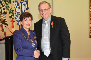 An image of Dame Patsy and Mr Patrick Snedden, of Auckland, MNZM for services to education and Māori