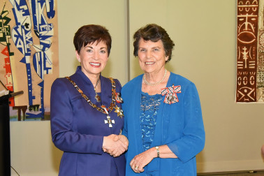An image of Dame Patsy and Mrs Janet McRobbie, of Pokeno, QSM for services to Girl Guides and the community