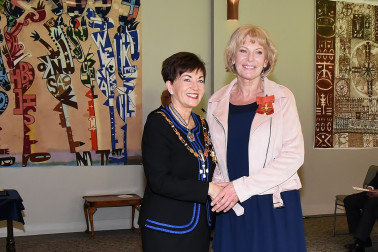 An image of Dame Patsy and Ms Jane Bruning, of Auckland, ONZM (Honorary)for services to people with HIV