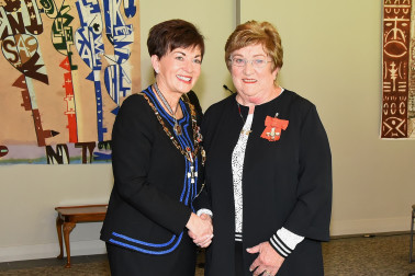 An image of Dame Patsy and Mrs Judith (Judy) Russell, of Whitianga, MNZM for services to netball