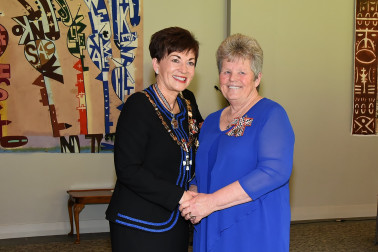 An image of Dame Patsy and Mrs Shirley May, of Kaikohe, QSM for services to music and the community