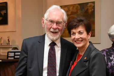 An image of Dame Patsy with Hon Russell Marshall