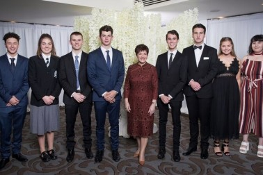 An image of Dame Patsy and Young Enterprise Trust entrepreneurs