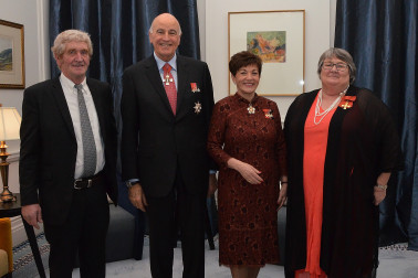 An image of Their Excellencies with Bruce McGowan and Wendy McGowan, ONZM