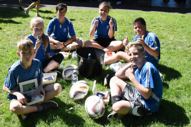 Image of students from Glenbrook School, Pukekohe