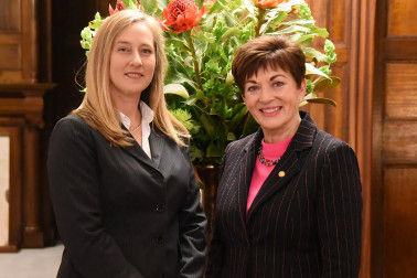 Image of MC Sarah Keene and Dame Patsy Reddy