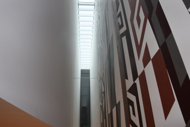An image of architectural detail at the Len  Lye Centre