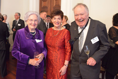 Image of Dame Patsy and her New Zealand Antarctic Heritage Trust co-patrons June, Lady Hillary and Bob Norman