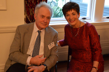 Image of Dame Patsy and reception guest, John Nankervis