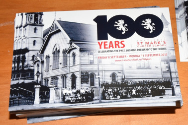 an image of St Mark's centenary card