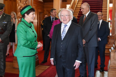 Dame Patsy and President of Ireland, Michael D. Higgins at Government House
