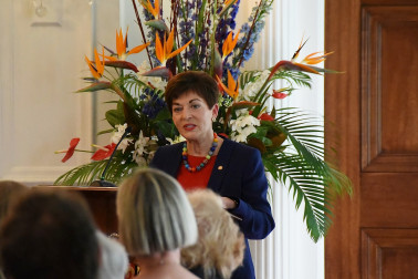 Image of Dame Patsy speaking at the New Zealand String Quartet's 30th anniversary reception