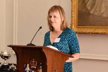 Image of MC Charlotte Gendall at the Frances Clarke Awards