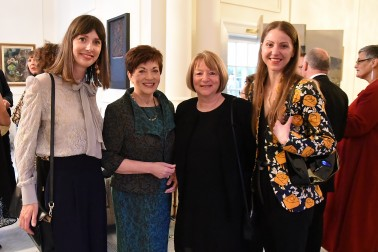 Image of Dame Patsy with guests at the showcase