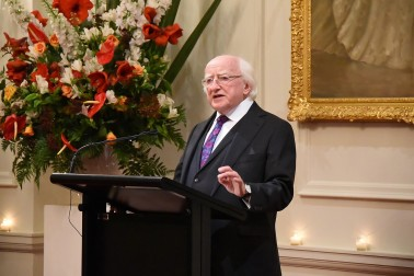 Image of President of Ireland, Michael D. Higgins speaking