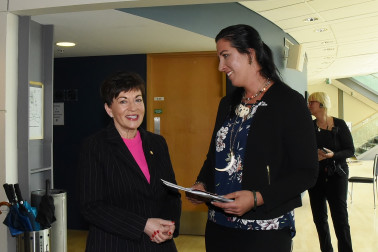an image of Dame Patsy with Season-Mary Downs, the facilitator of the Q and A
