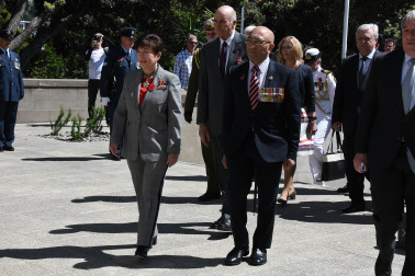an image of Dame Patsy and Hon Ron Mark, Minister of Defence