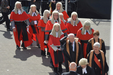 an image of Judiciary arriving