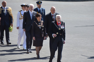 an image of Dame Patsy and Sir David arriving at Parliament